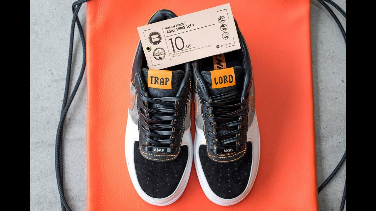 237c157cfd20 BespokeIND Make 1 of 1  TRAP LORD  Air Force 1s for A AP Ferg. Sneaker  Freaker 2016