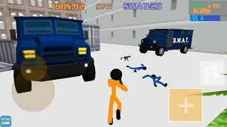 Stickman Prison: Counter Assault Swat vs Prisoners Walkthrough Part 3 / Android Gameplay HD