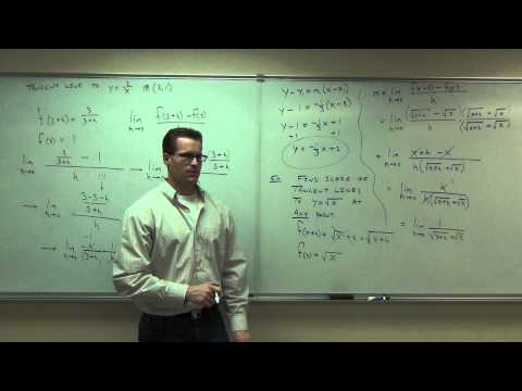 Calculus 1 Lecture 1.5:  Slope of a Curve, Velocity, and Rates of Change