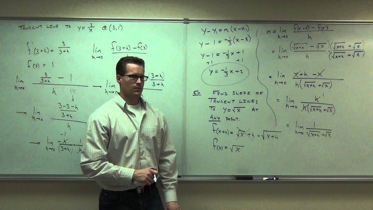 calculus 1 lecture 1 5 slope of a curve velocity and rates of