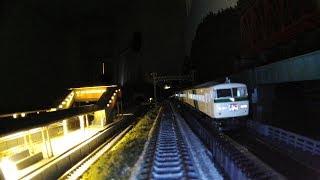 Nゲージ 前面展望 レンタルレイアウト ほぼ国鉄時代のジオラマ 4番線