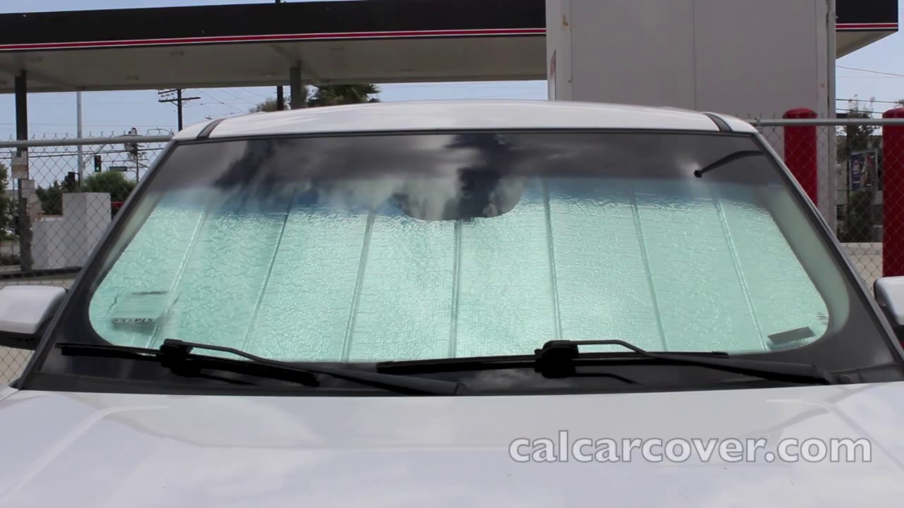 Introtech Ultimate Reflector Custom Fit Auto Sun Shade at California Car  Cover - YouTube 2c6912c5e33