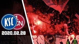 Karlsruher - fcn : pyro-showpyro ultras (ksc-fans) & nordkurve nürnberg (fcn-fans)   sc gegen 1. fc 2020.02.28 in germany » 2....