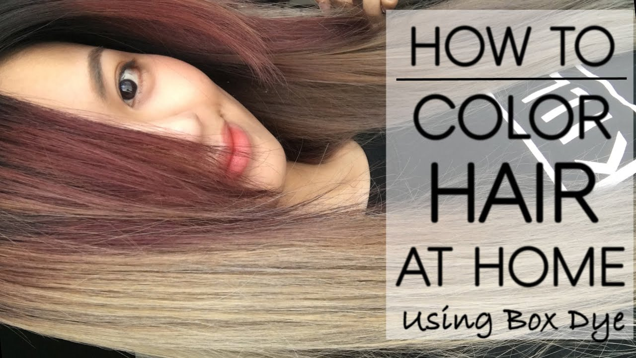 DIY How to Color Your Hair/Roots At Home (Drugstore Box Dye ...