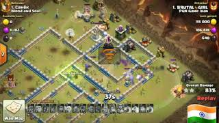 GIANT BOWLER WITCH THE GLAM SHOT ON TH 12  FOR 3 STAR | INDIAN ARMY | CLASH WITH PRAKASH | COC |