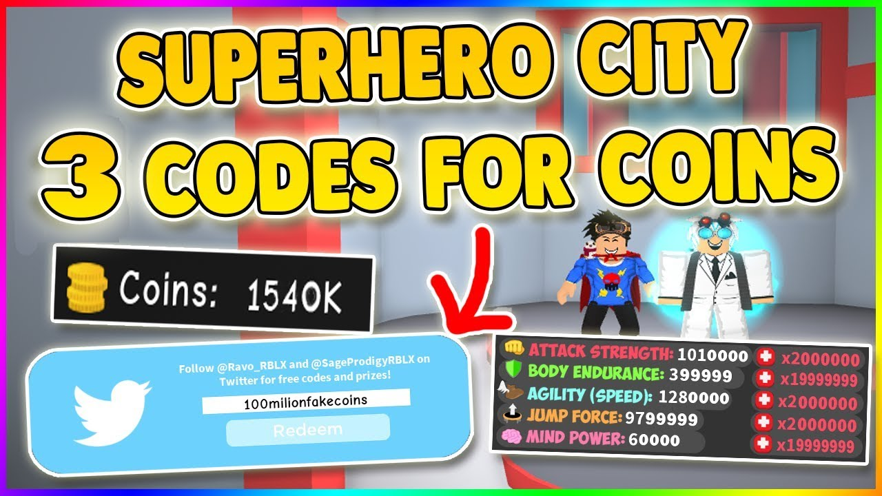 *SECRET* EPIC 3 NEW CODES😱SUPERHERO CITY ROBLOX