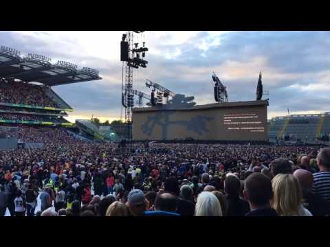 U2 Croke Park 2017 The Whole of the Moon intro
