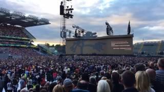 U2 Croke Park 2017 The Whole of the Moon intro