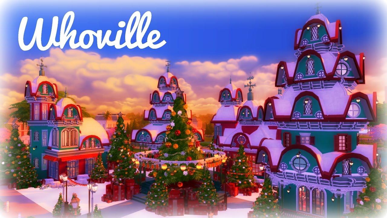 whoville christmas collab sims 4 speed build youtube