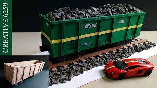 How To Make A Train |Electric (DC) Motor |Using Cardboard | DIY Scale Model |RC Train (Goods coach)