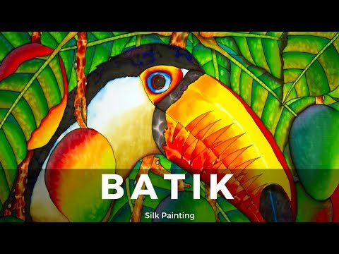 BATIK SILK PAINTING WITH JEAN-BAPTISTE – FINE ART –   TOUCAN