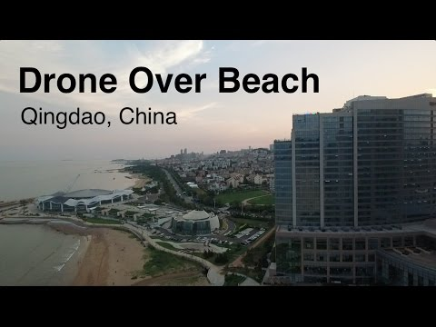 Drone Over Qingdao Beach