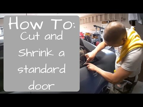 Window Tinting: How to Cut and Shrink a standard door