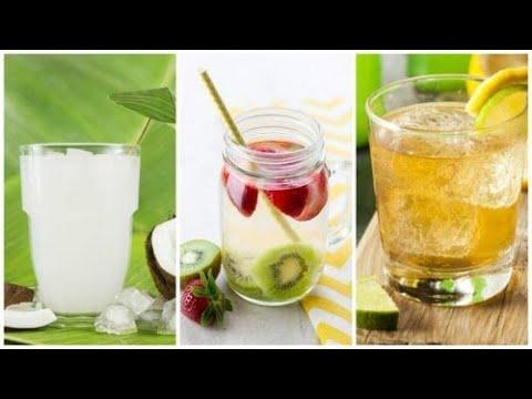 Erfrischende, kalorienarme Getränke für den Sommer - YouTube