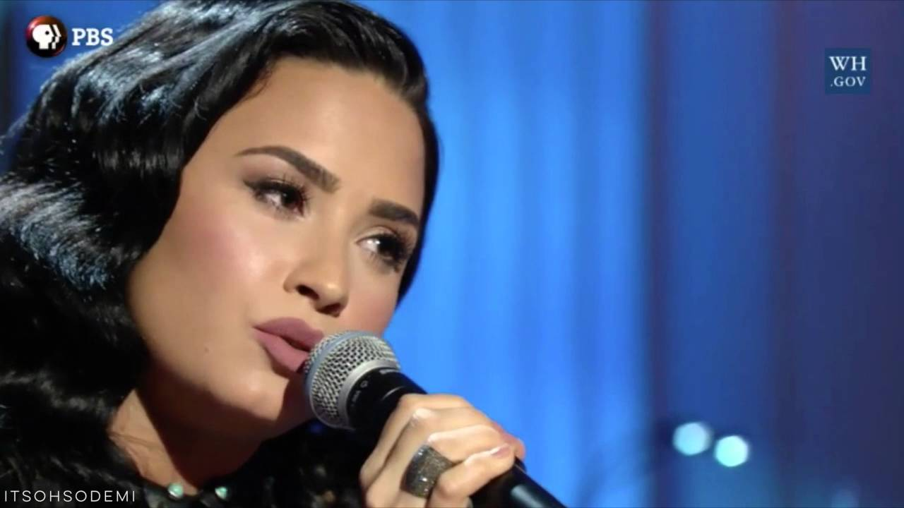 Demi Lovato Performing You Dont Know Me At Ray Charles Tribute At The White House February Th