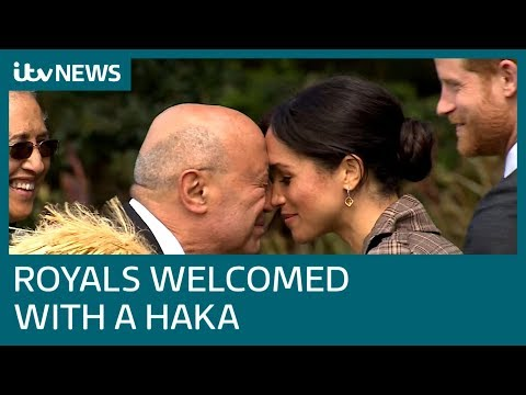 Harry and Meghan receive traditional Maori haka greeting in New Zealand | ITV News