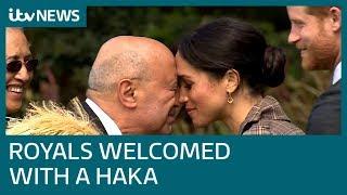 Harry and Meghan receive traditional Maori haka greeting in New Zealand | ITV News