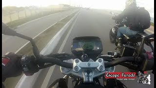 BMW G 310 R vs Honda CB 500F vs Yamaha MT 03 - Canal Escape Furado