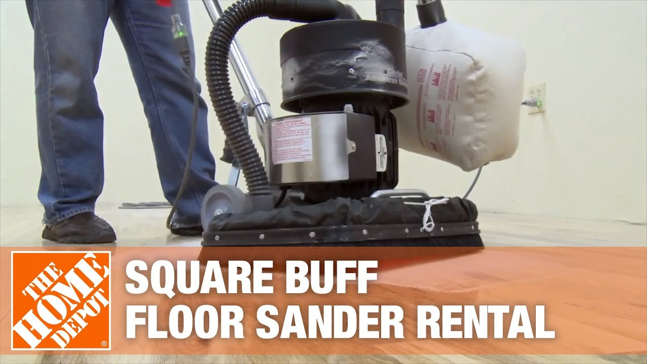American Sanders Square Buff Floor Sander The Home Depot Rental Youtube