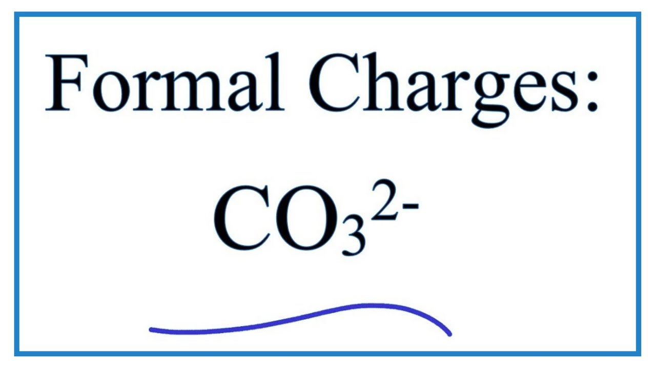 Calculating Co32 Formal Charges For The If You Are Looking Wiring Diagram Carbonate Ion