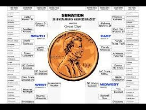 2018 Coin Flip NCAA Tournament Bracket! (16 Seed in the Elite Eight!!)