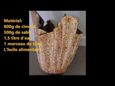 Comment Faire De Cache Pot En Beton Avec Tissu Facile Youtube
