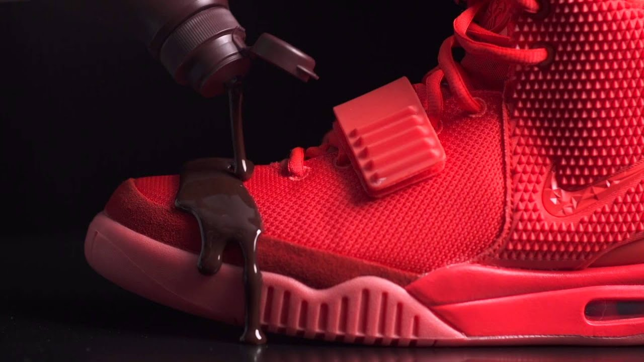Crep Protect - Nike Air Yeezy II 'Red October' vs. Hershey's Chocolate  Syrup - YouTube