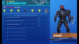 Fortnite battle royal unloking the meteoric rise skin live leavel 80 +