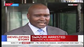 Developing...EACC\'s statement on the arrest of Swazuri and other officials
