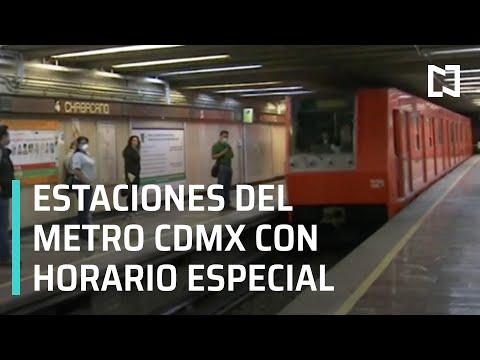 Estas son las estaciones del Metro CDMX con horario especial - Las Noticias