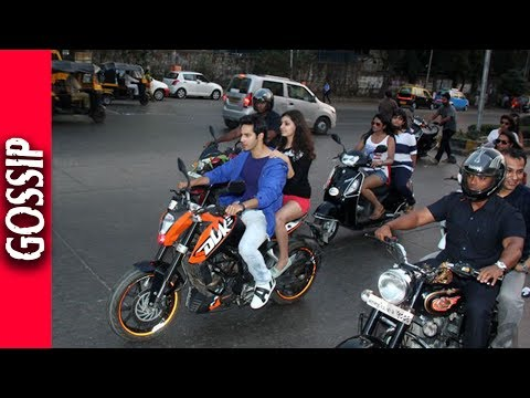 Varun Dhawan Goes On A Bike Ride - Bollywood Gossip 2017