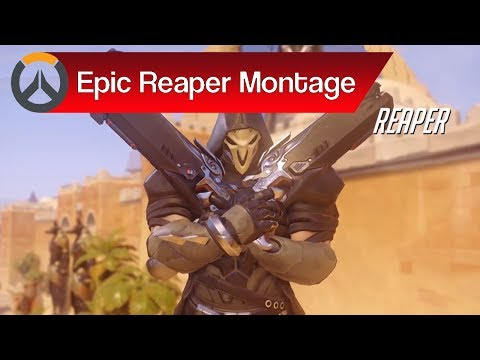Overwatch: Reaper Death Blossom Montage & Epic Reaper Moments Compilation