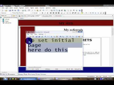 Web designing with Front page 2003 in 20 minutes(Complete English Tutorial)