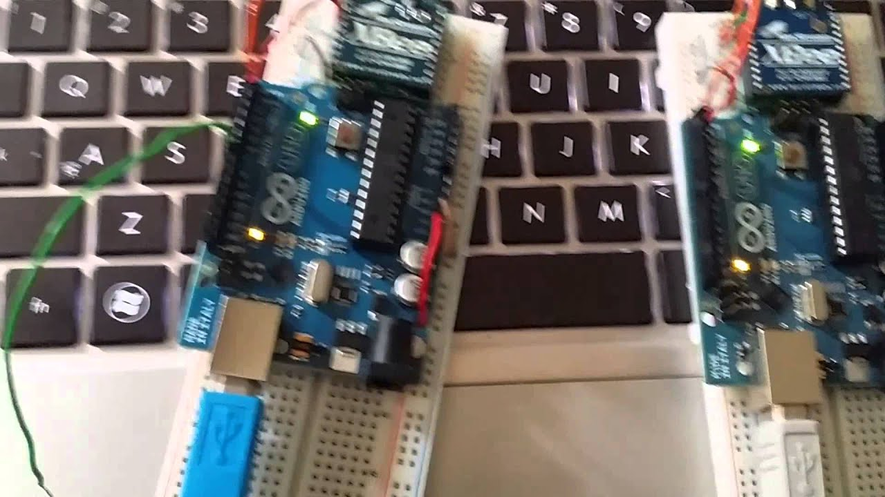 Arduino zigbee xbee demo senior project youtube