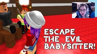 ROBLOX ESCAPE THE EVIL BABYSITTER OBBY | RADIOJH GAMES