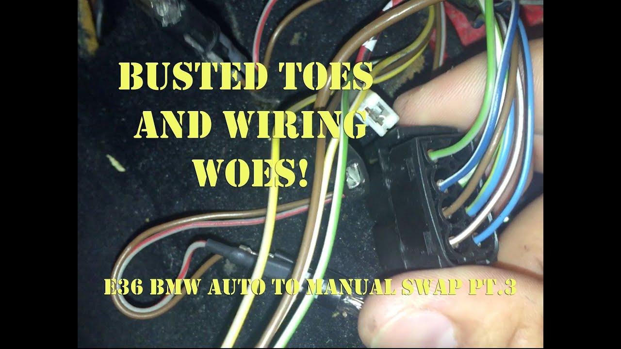 E36 BMW Auto to Manual Swap Pt.3 - YouTube