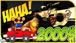 AUSVERSEHEN 2000$ Cs Go Skins GEWONNEN ► haha Dragon Lore Gambling
