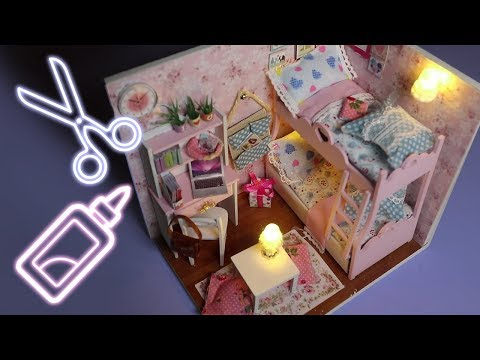 ASMR DIY Let's Build a Tiny Bedroom – So Many Tingles!!