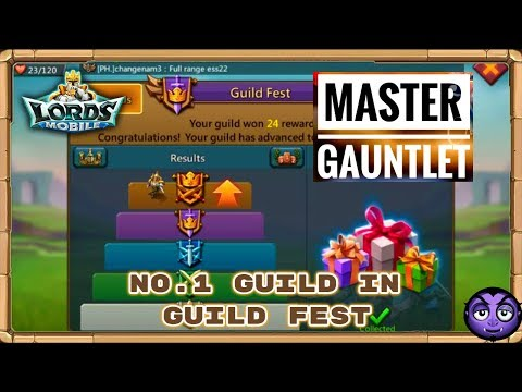 Lords Mobile | Guild Fest No.1 Rank | Climbing For Master Gauntlet!