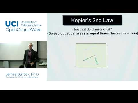 Physics 20B. Cosmology. Lec. 4: Kepler's Laws