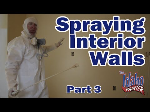 Spraying Interior Walls With An Airless Paint Sprayer How To Paint Drywall Diy Painting Youtube