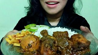 Eating Rice & Chicken Curry (No talking)