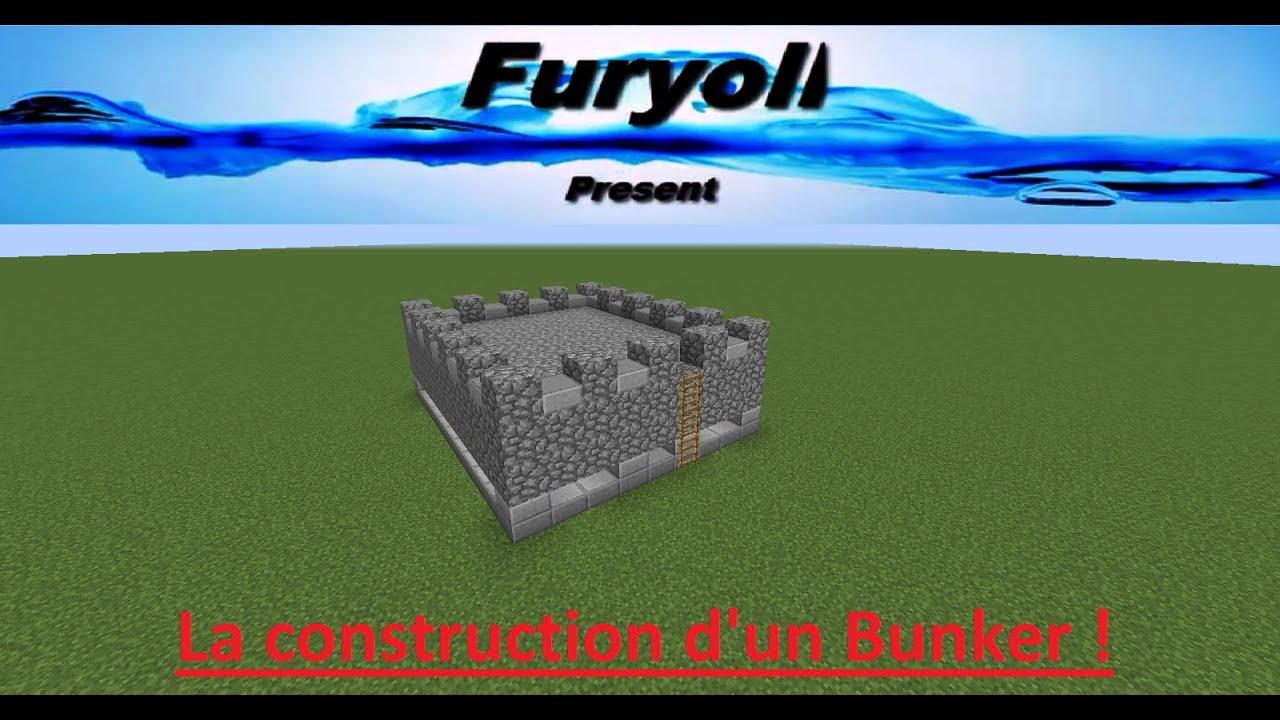 Fr minecraft tuto construction bunker youtube for Minecraft tuto construction