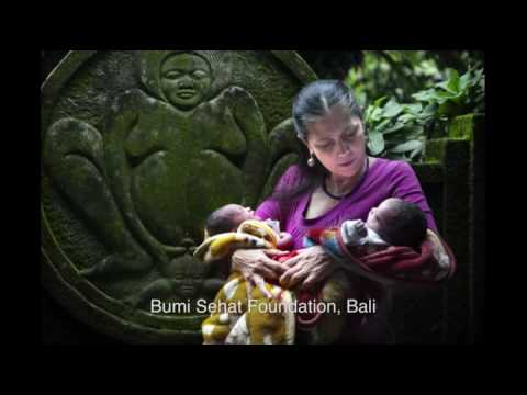 The founders of Awakening Birth, midwives  Ibu Robin Lim and Deborah Flowers