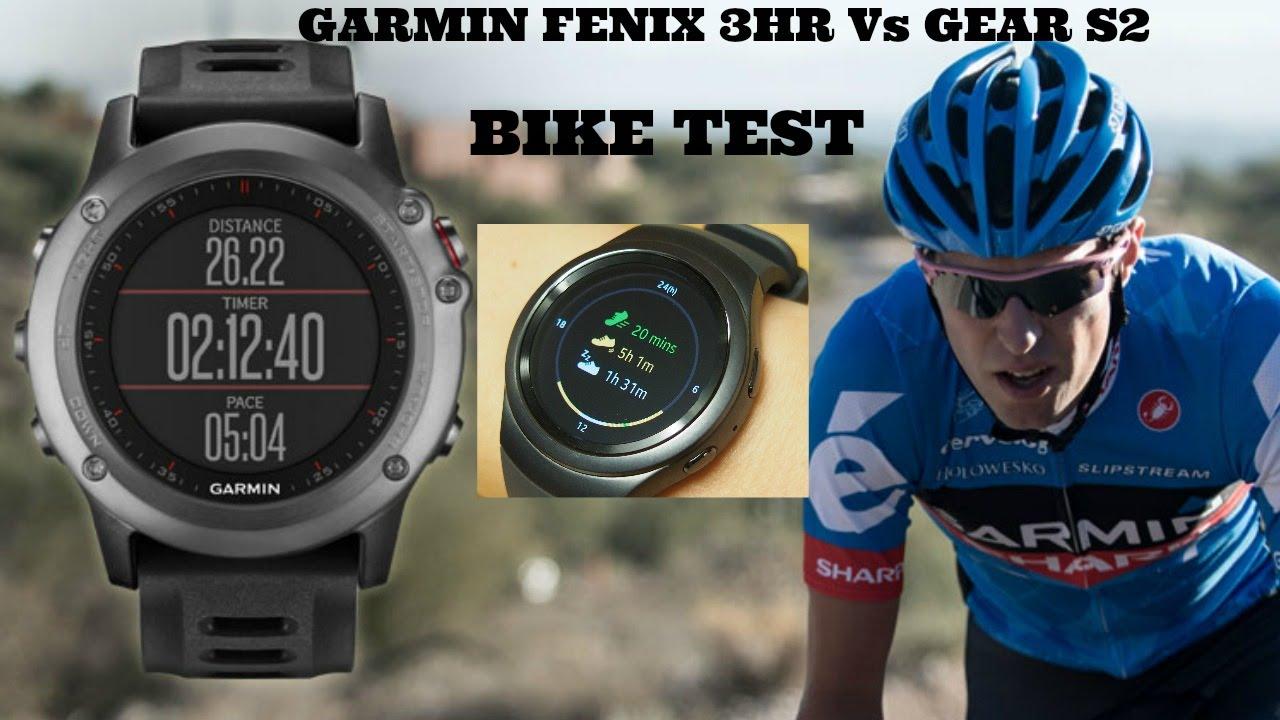 Speed Test Frontier >> BEST GPS WATCH - BIKE TEST WITH SAMSUNG GEAR S2 V GAMIN FENIX 3 HR - YouTube