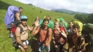 видео туристические походы по Карпатам
