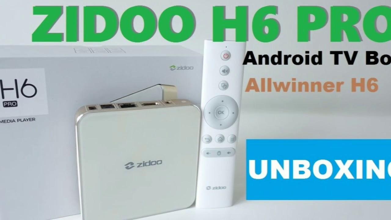 Zidoo H6 Pro TV Box YouTube 4K Netflix Full HD Streaming
