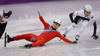North Korean skater disqualified after falling in Olympic pre-heat; some onlookers claim dirty play