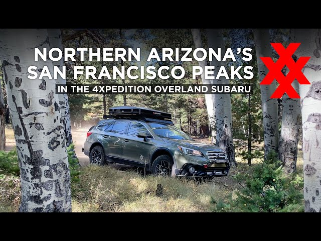 Subaru Outback Car Camping iKamper Rooftop Tent in San Francisco Mountains of Arizona