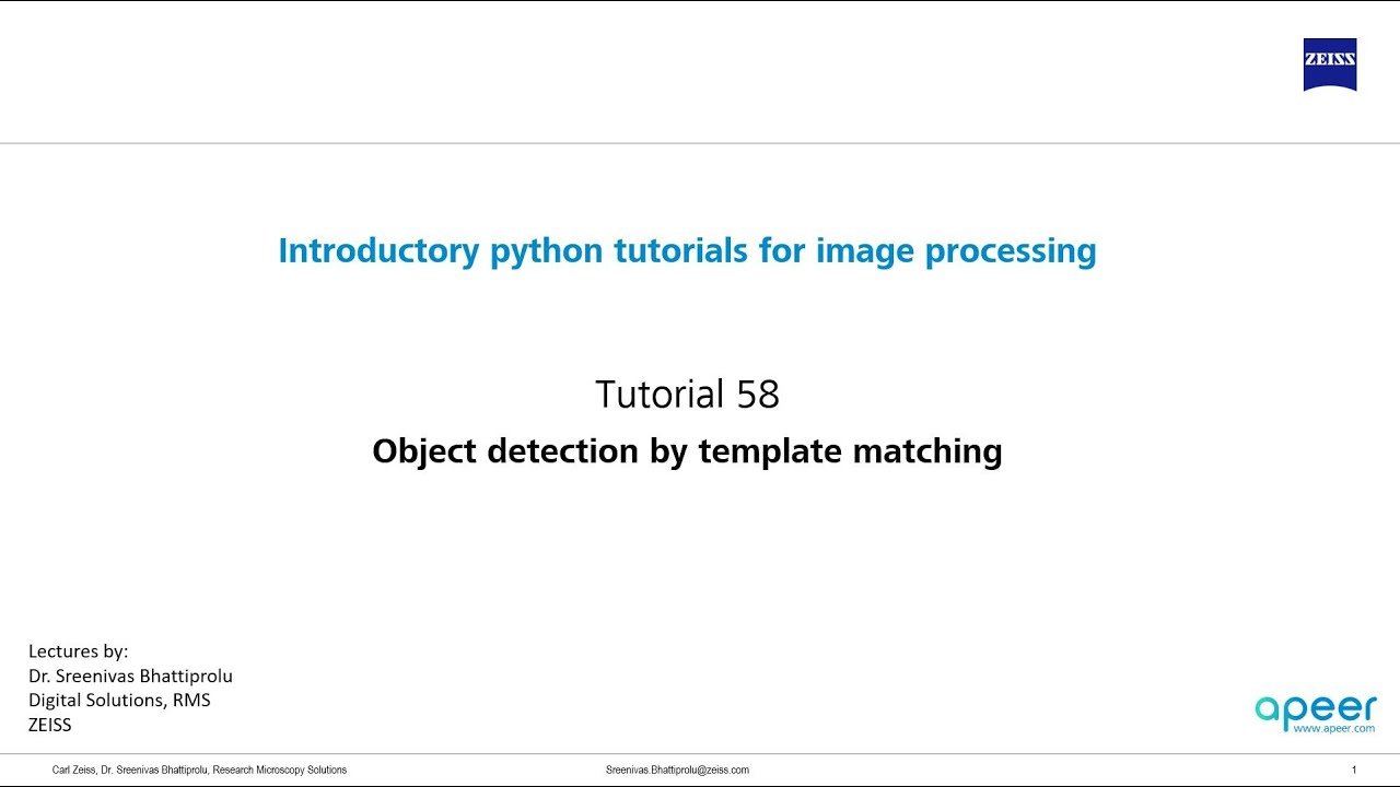 Tutorial 58 Object Detection Using Template Matching Youtube